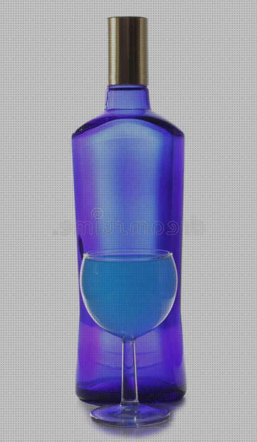 Review de botella coctail azul