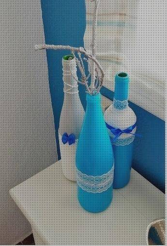 Todo sobre decorados botellas botella decoradas color azul